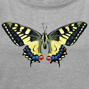 butterfly - butterfly - Women's T-shirt with rolled up sleeves