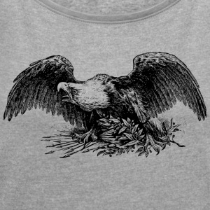 Eagle - Women's T-shirt with rolled up sleeves