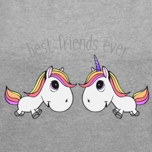 Best friends ever - Women's T-shirt with rolled up sleeves