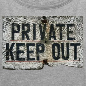 PRIVATE - Women's T-shirt with rolled up sleeves