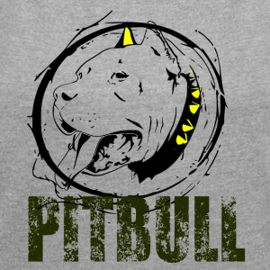 PITBULL - Dog Love - Women's T-shirt with rolled up sleeves