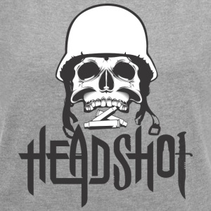 TOTAL HEAD / HEADSHOT / ROCK N ROLL T-SHIRT - Women's T-shirt with rolled up sleeves