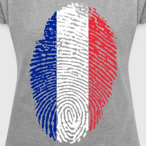 FRANCE / FRANCE - Women's T-shirt with rolled up sleeves