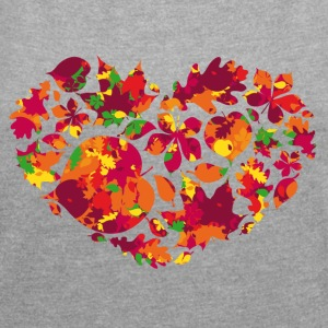 Leaves Love - Women's T-shirt with rolled up sleeves