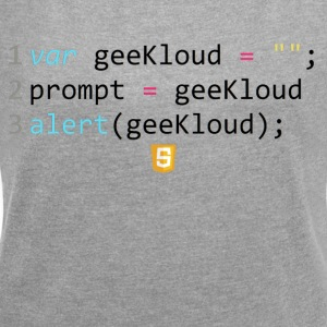 JavaScript Code - GeeKloud - Women's T-shirt with rolled up sleeves