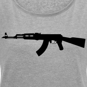 AK 47 - Women's T-shirt with rolled up sleeves