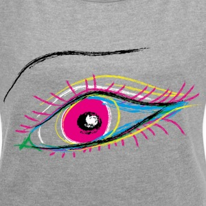 eyecatcher - Women's T-shirt with rolled up sleeves