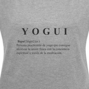 Yogi black shirt - Women's T-shirt with rolled up sleeves