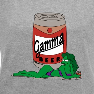 Gamma_beer_gif - Women's T-shirt with rolled up sleeves