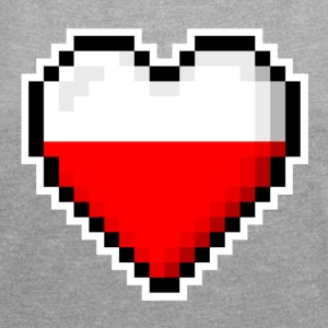 LOVE Poland - Women's T-shirt with rolled up sleeves