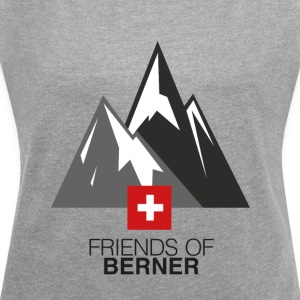 Over the Mountains - Frauen T-Shirt mit gerollten Ärmeln