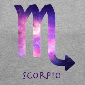 Scorpio - Women's T-shirt with rolled up sleeves