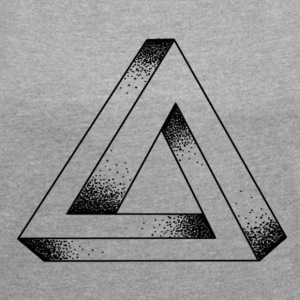 ENDLESS TRIANGLE - Women's T-shirt with rolled up sleeves