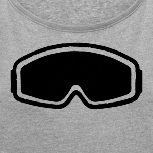 snowboard goggles - Women's T-shirt with rolled up sleeves