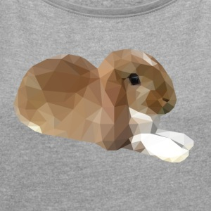 Relaxing Small Rabbit - Women's T-shirt with rolled up sleeves