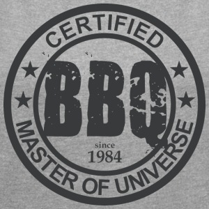 Certified BBQ Master 1964 Grillmeister - Women's T-shirt with rolled up sleeves