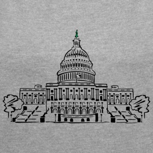 Capitol Washington - Women's T-shirt with rolled up sleeves