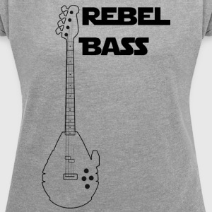 Rebel bass - Women's T-shirt with rolled up sleeves