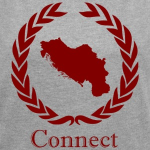 CONNECT COLLECTION LMTD. RED EDITION - T-shirt med upprullade ärmar dam