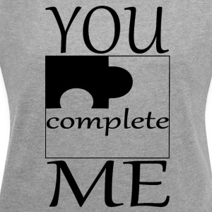Partner Design YOU ME complete Part 2 - Women's T-shirt with rolled up sleeves