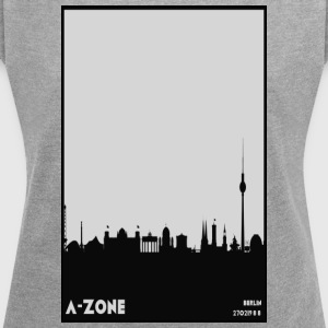 Berlin Skyline - Women's T-shirt with rolled up sleeves