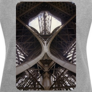 Eiffel tower - Women's T-shirt with rolled up sleeves