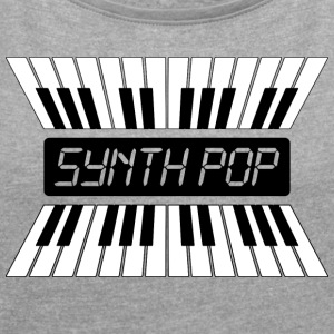 SYNTH-POP MUSIC (2) - Frauen T-Shirt mit gerollten Ärmeln