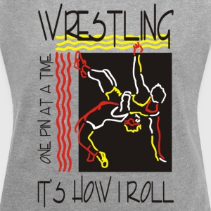 Wrestling That's How I Roll One Pin At A Time - Women's T-shirt with rolled up sleeves