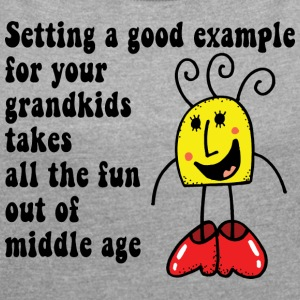Funny Grand Kids - Women's T-shirt with rolled up sleeves