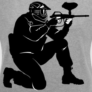 Paintball - Women's T-shirt with rolled up sleeves
