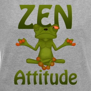 Frog Zen Attitude - Women's T-shirt with rolled up sleeves