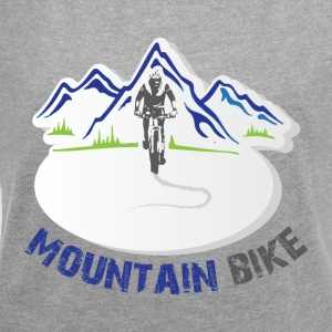Mountain Bike - Women's T-shirt with rolled up sleeves