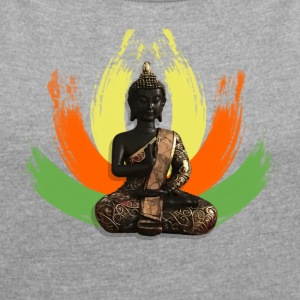 Buddha Lotus - Women's T-shirt with rolled up sleeves