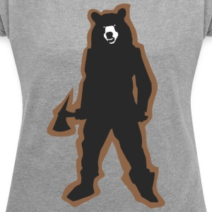 Killa Bear - Women's T-shirt with rolled up sleeves