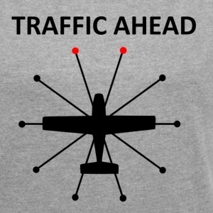 Traffic Ahead - Collision - Women's T-shirt with rolled up sleeves
