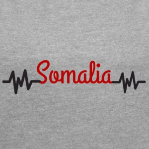 somalia - Women's T-shirt with rolled up sleeves