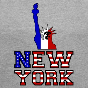 New York Liberty - Women's T-shirt with rolled up sleeves