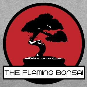The Flaming Bonsai Final Company Logo - Vrouwen T-shirt met opgerolde mouwen