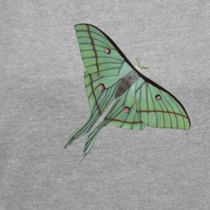 Indian lunar spinner - butterfly - Women's T-shirt with rolled up sleeves