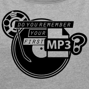 MP3 - Women's T-shirt with rolled up sleeves