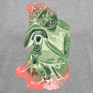 Buddha - Women's T-shirt with rolled up sleeves