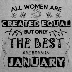 Woman Birthday January - Women's T-shirt with rolled up sleeves