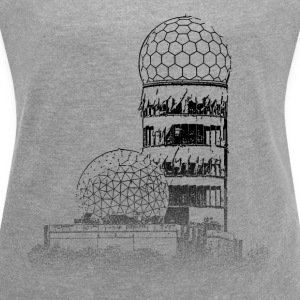 Around The World: Teufelsberg - Berlin - Women's T-shirt with rolled up sleeves