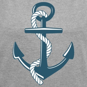 anchor - Women's T-shirt with rolled up sleeves