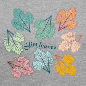 Slim leaves - Women's T-shirt with rolled up sleeves