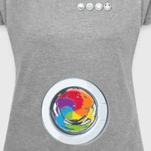 Rainbow Laundry-Unisex - Women's T-shirt with rolled up sleeves