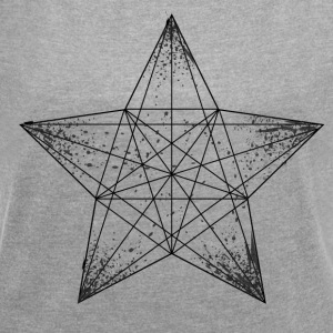 star - Women's T-shirt with rolled up sleeves