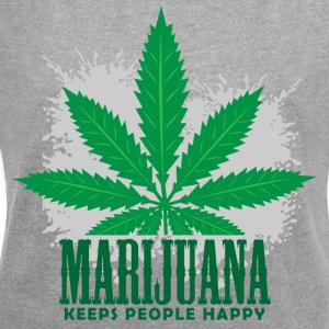 Marijuana - Women's T-shirt with rolled up sleeves