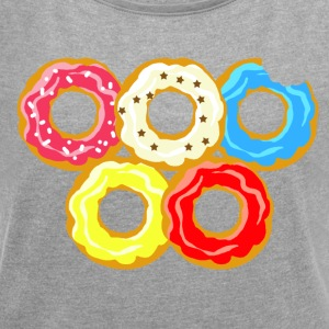donuts - Women's T-shirt with rolled up sleeves