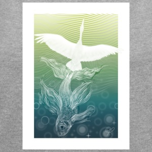 Dream of flying - Women's T-shirt with rolled up sleeves